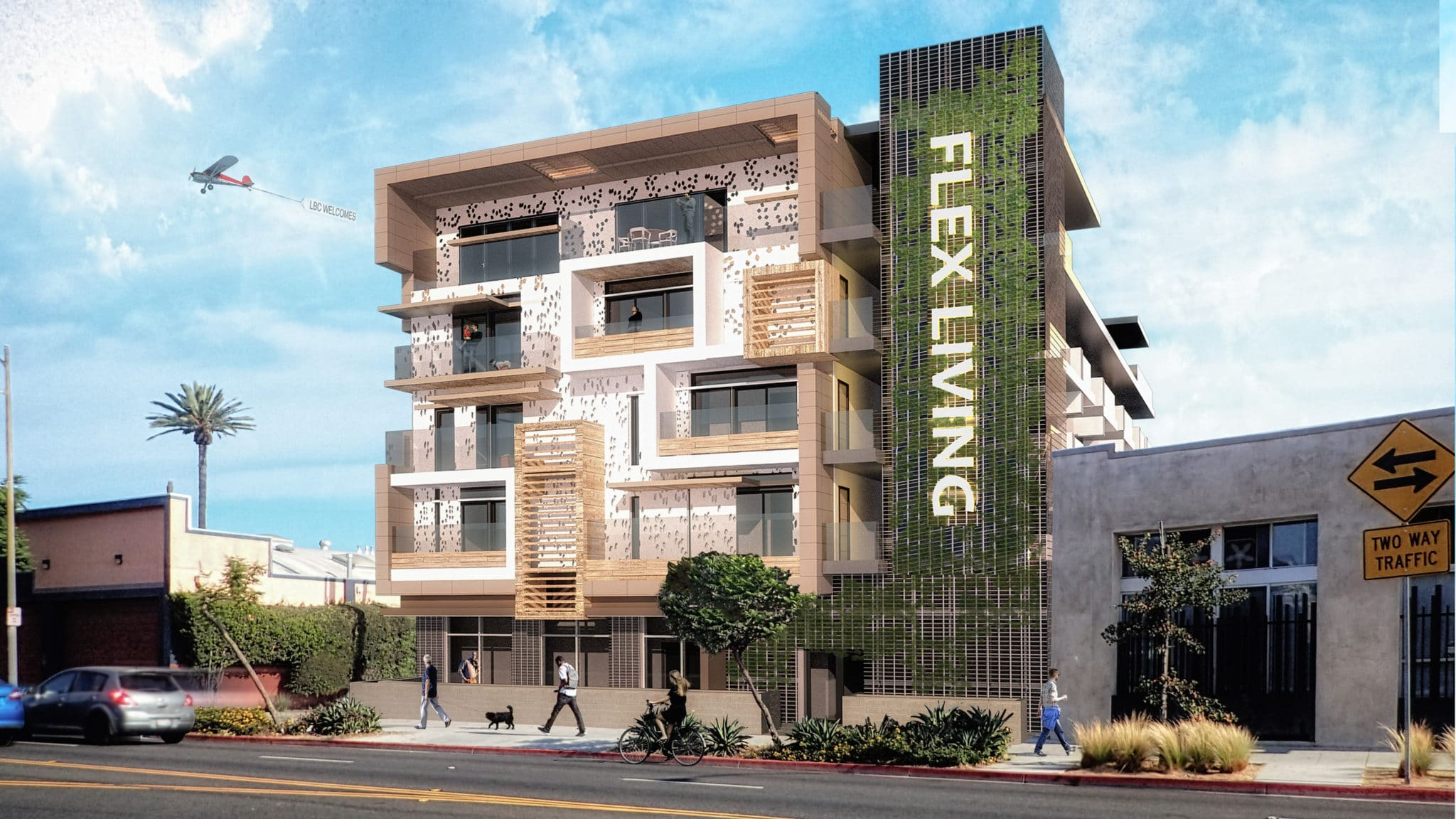 Advanced Design - 7th St Apartment Building - Long Beach - Ultra-Unit Architectural Studio