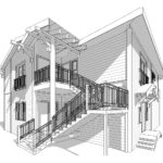 Exterior Access Stairs Design - Lemon Street - Triplex Long Beach
